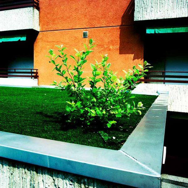 VEGETABLE, Pflanze wächst auf einem Kunstrasen © Gustavo Alàbiso